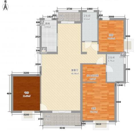东亚・国际城3室1厅2卫1厨147.00㎡户型图