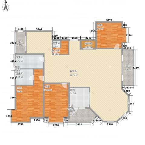 上实盛世江南3室1厅3卫1厨262.00㎡户型图