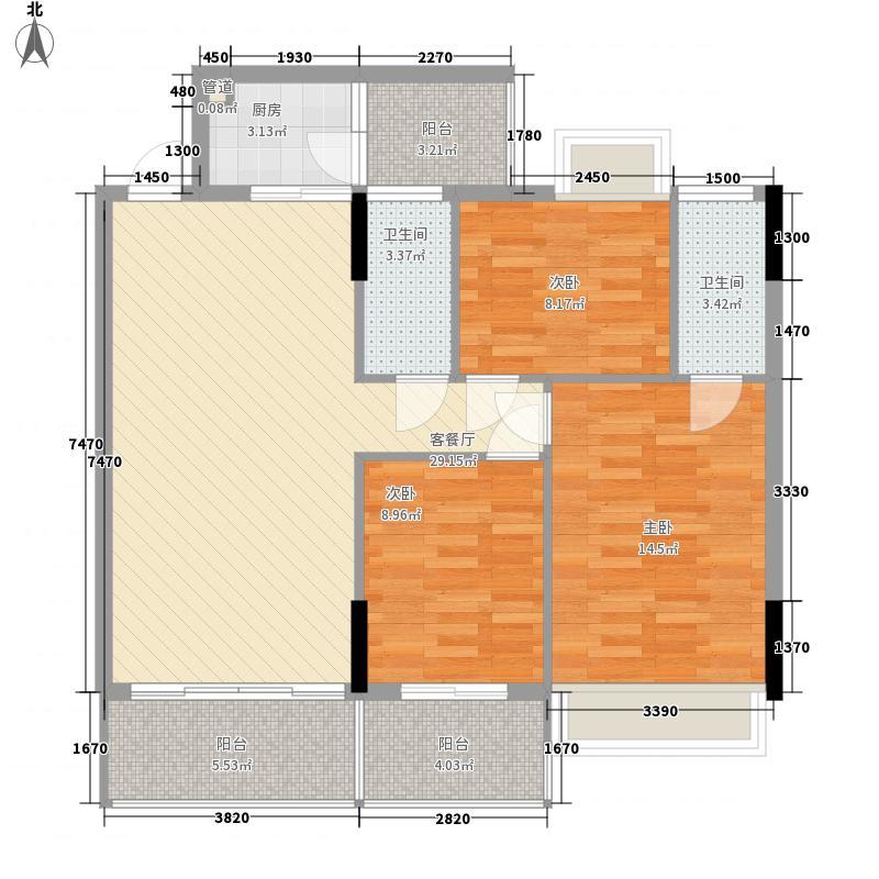 顺欣广场118.50㎡2、6栋8-10层4面积11850m户型