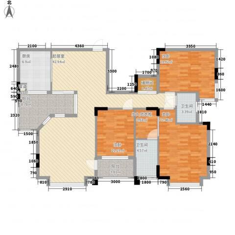 国际公馆诺丁山3室0厅2卫1厨166.00㎡户型图