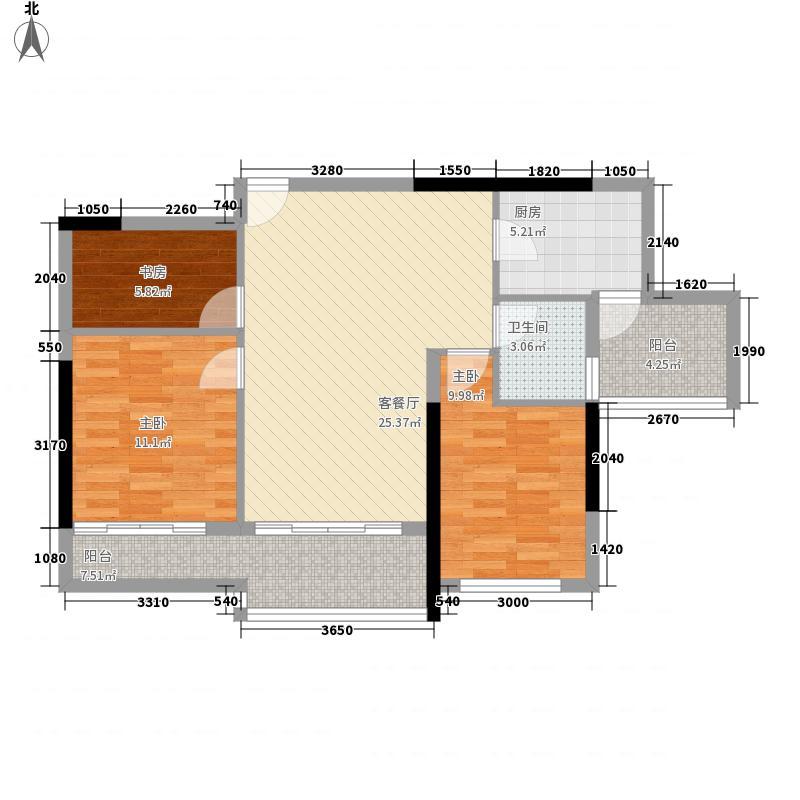 兴华苑117.00㎡户型3室