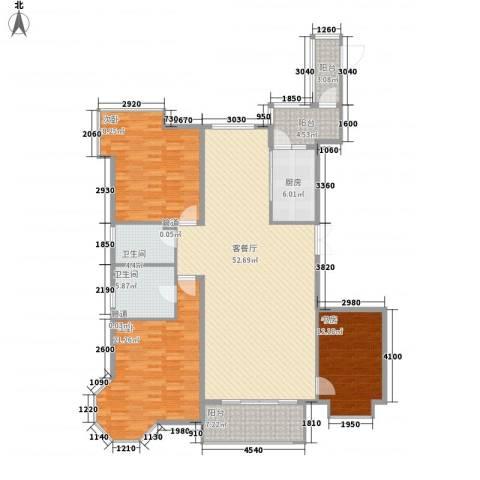 上实盛世江南3室1厅2卫1厨185.00㎡户型图