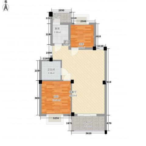 如意金水湾2室1厅1卫1厨85.00㎡户型图