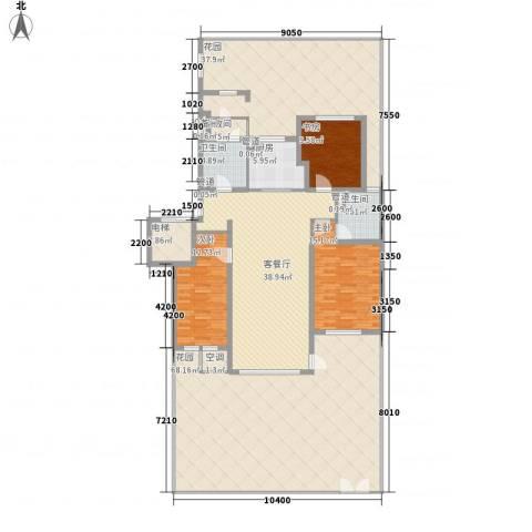听雨观澜3室1厅2卫1厨205.09㎡户型图