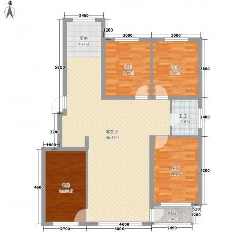 城润万家4室1厅1卫0厨120.00㎡户型图