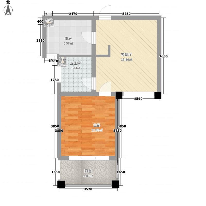 三花现代城三期金�苑61.00㎡三花现代城三期金�苑户型图户型图1室1厅1卫户型1室1厅1卫