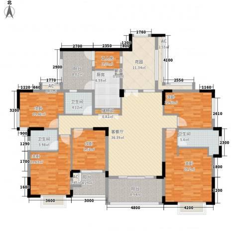 三正卧龙山5室1厅3卫1厨189.00㎡户型图