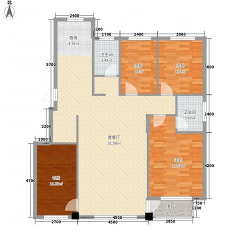 城润万家4室1厅2卫0厨140.00㎡户型图