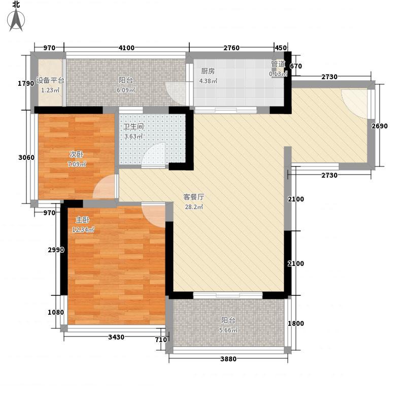 盛天东郡|天悦73.00㎡3#5#楼1单元05-2单元02户型2室2厅1卫1厨