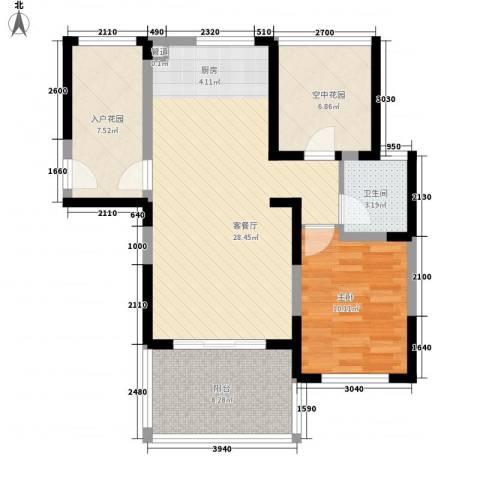 博鳌椰风海岸1室1厅1卫0厨71.00㎡户型图