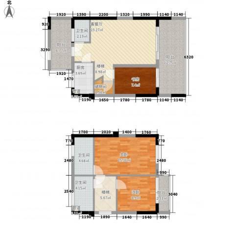友山公馆3室1厅3卫1厨141.00㎡户型图