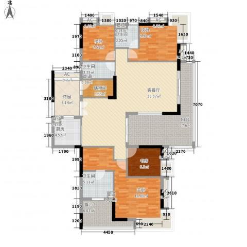 保利花园4室1厅3卫1厨190.00㎡户型图