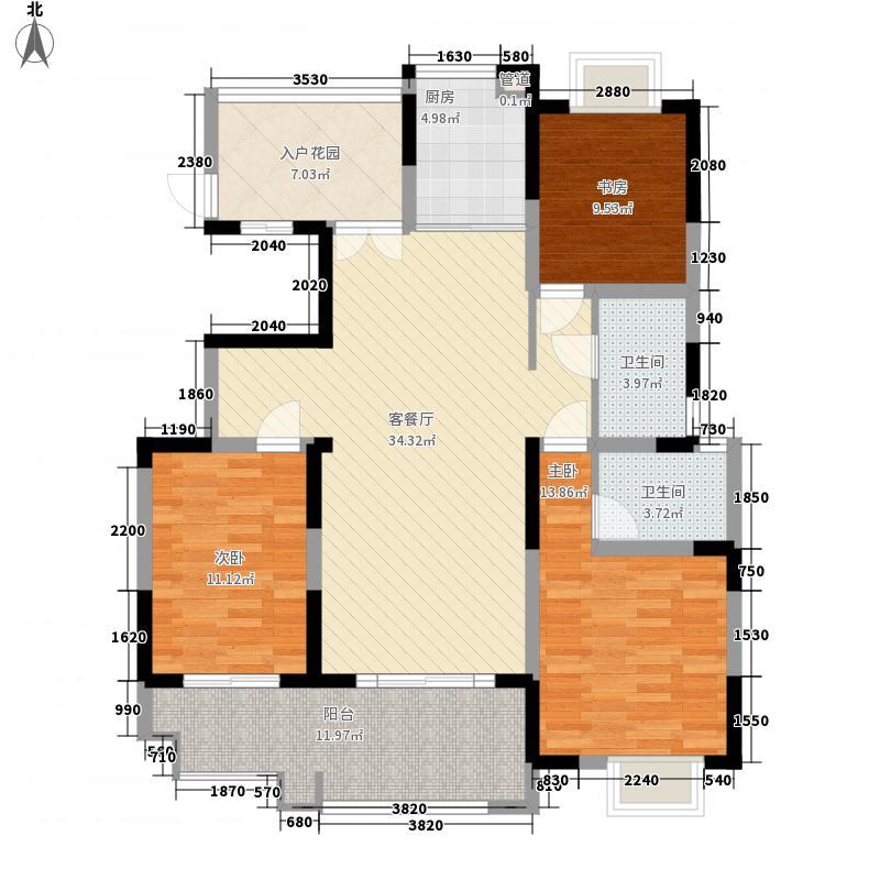 悦达悦珑湾142.00㎡二期12/15/19号楼E2户型3室2厅2卫1厨