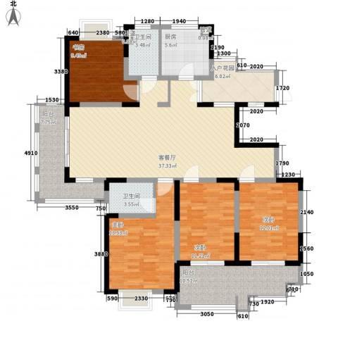 悦达悦珑湾4室1厅2卫1厨175.00㎡户型图
