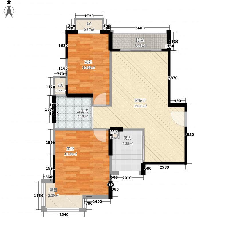 翡翠园95.00㎡翡翠园2室户型2室