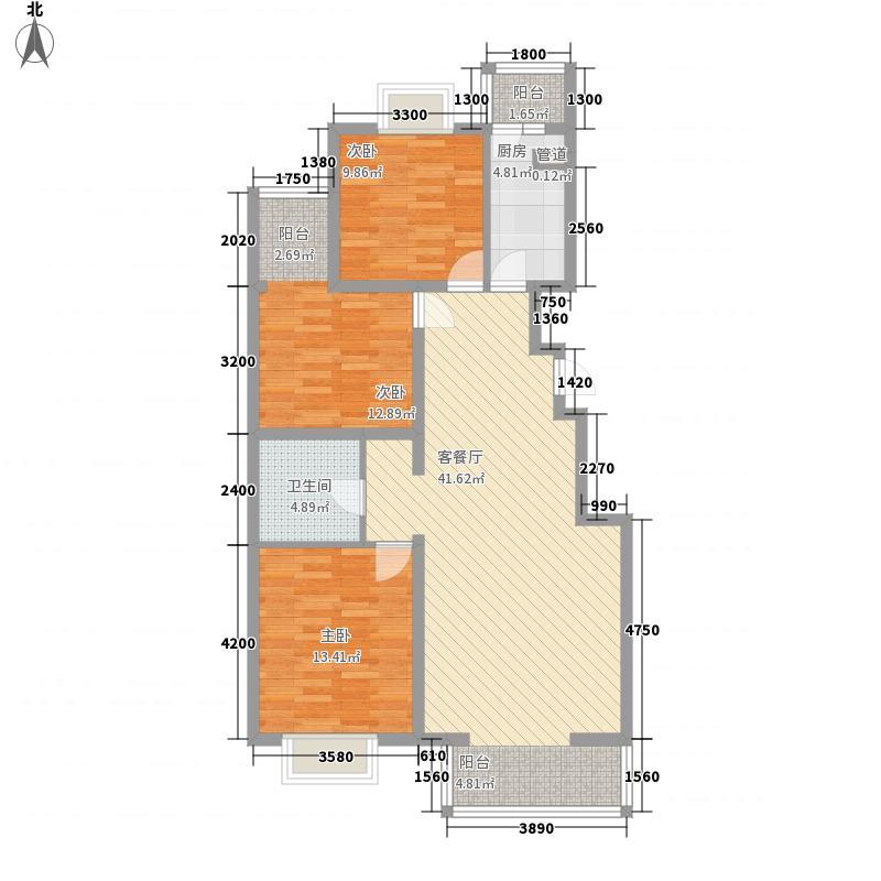 碧桂园温泉118.00㎡小区二期3D+户型3室2厅1卫1厨
