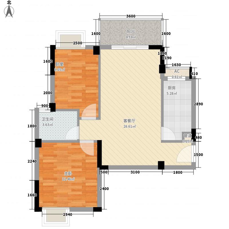 大儒世家朗园A2户型3室2厅2卫