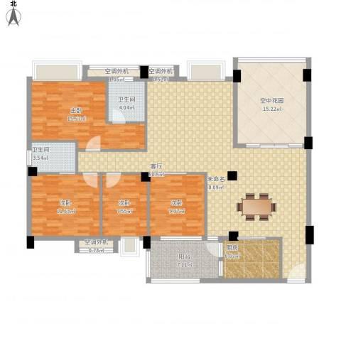 丽景华庭4室1厅2卫1厨188.00㎡户型图