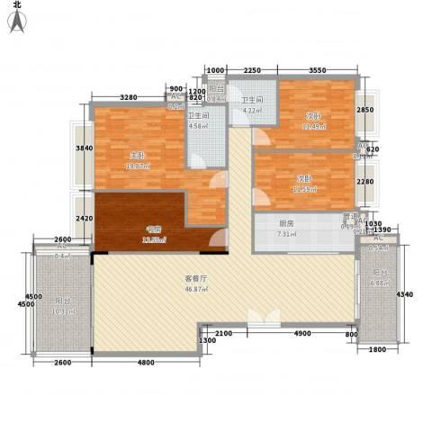 合正锦园4室1厅2卫1厨190.00㎡户型图