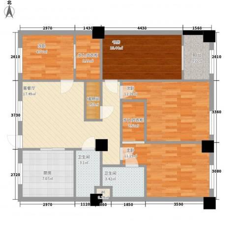 苹果假日4室1厅2卫1厨118.00㎡户型图