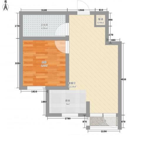 新华壹品1室1厅1卫0厨55.00㎡户型图