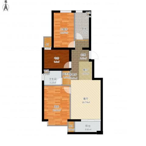 北京城建·海梓府3室1厅1卫1厨105.00㎡户型图