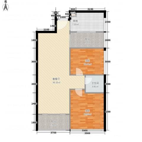 泰和花园2室1厅1卫1厨86.24㎡户型图