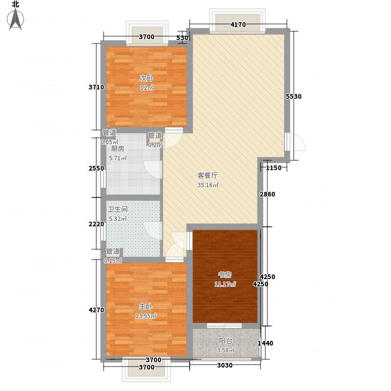 枫林湾18#楼标准层M户型