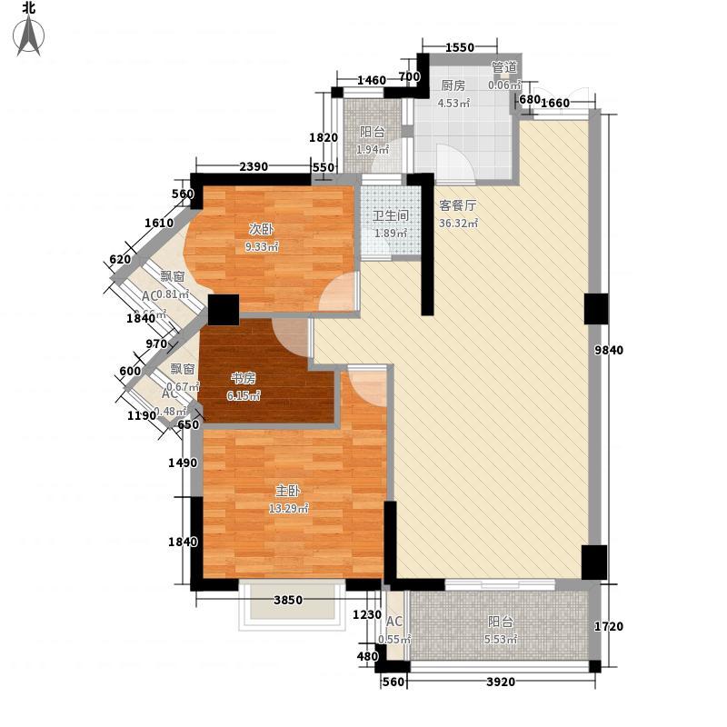 东海湾・俊园116.00㎡东海湾俊园户型3室