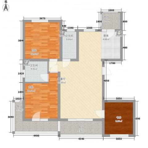 盟科涵舍3室1厅2卫0厨133.00㎡户型图