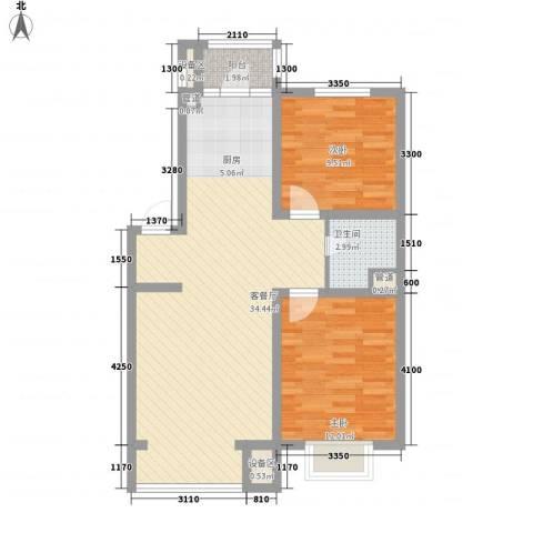 风华时代2室1厅1卫0厨88.00㎡户型图