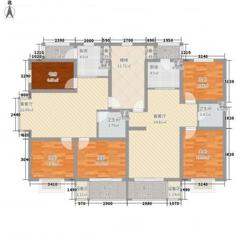 风华时代5室2厅2卫2厨195.00㎡户型图