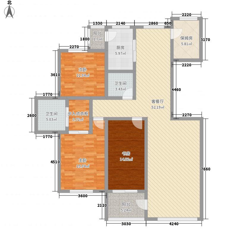 鸿城西域户型图4室2厅2卫