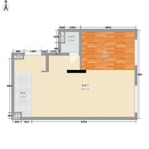 晋合公寓1厅1卫0厨89.00㎡户型图