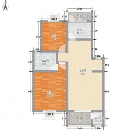中铁四局四公司生活小区2室1厅2卫1厨180.00㎡户型图