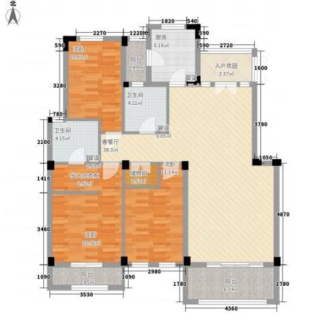 长城珑湾3室1厅2卫1厨150.00㎡户型图