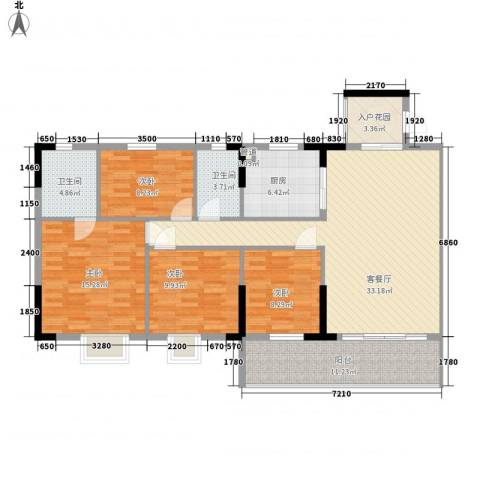 城央御景尚品4室1厅2卫1厨147.00㎡户型图
