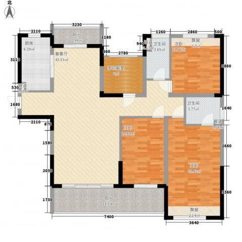 花样年江山3室1厅2卫1厨152.00㎡户型图