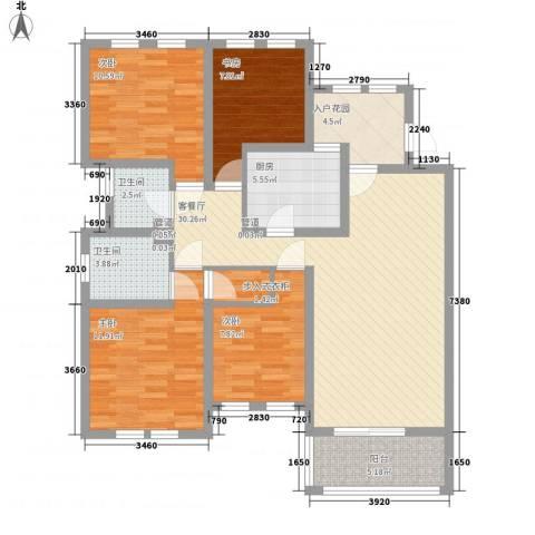 加州洋房4室1厅2卫1厨133.00㎡户型图