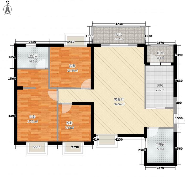 富基世纪公园124.59㎡5栋1.4号户型3室2厅2卫