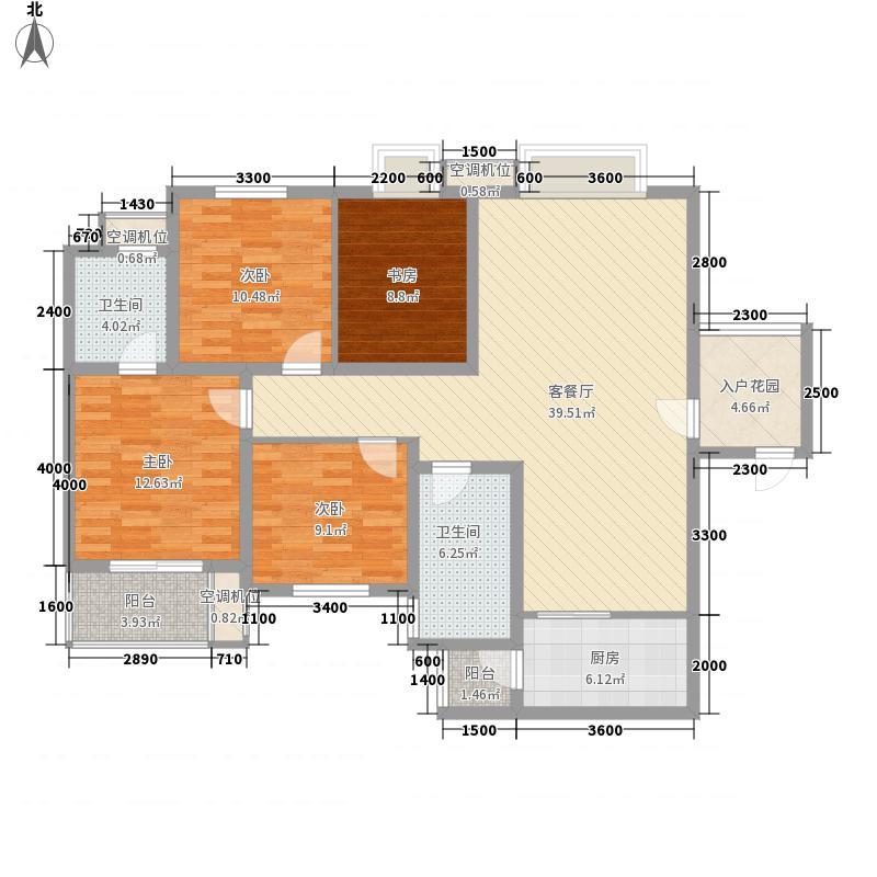 �灞新天地145.11㎡�灞新天地户型图A9户型图4室2厅2卫1厨户型4室2厅2卫1厨
