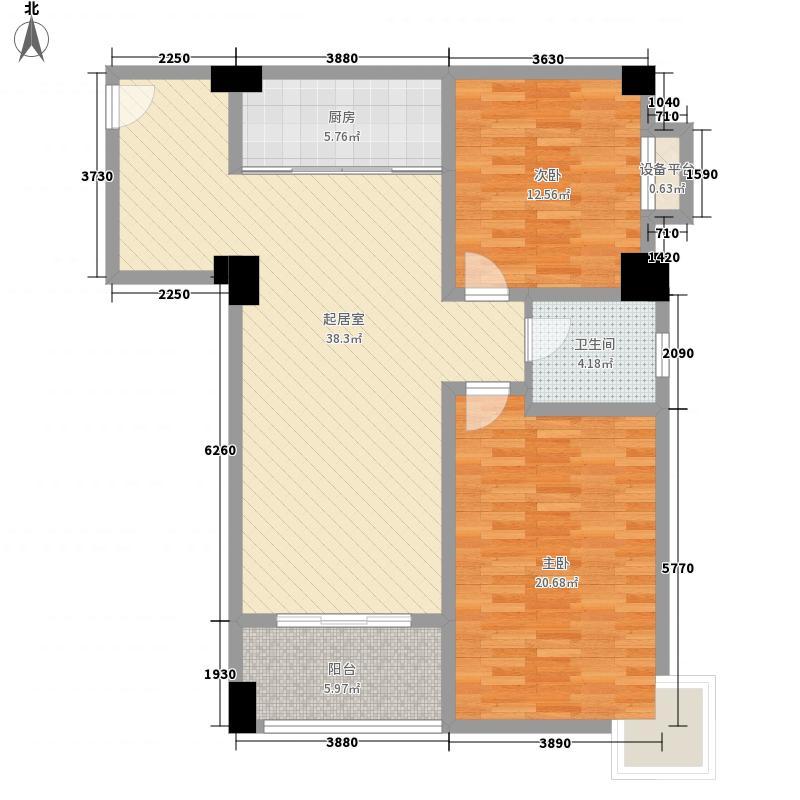 金世界128.00㎡6号公寓1面积12800m户型