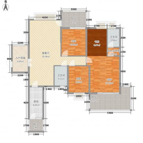 广汇东湖城3室1厅2卫1厨137.00㎡户型图