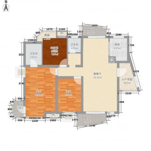 中铁人才家园2室1厅2卫1厨132.00㎡户型图