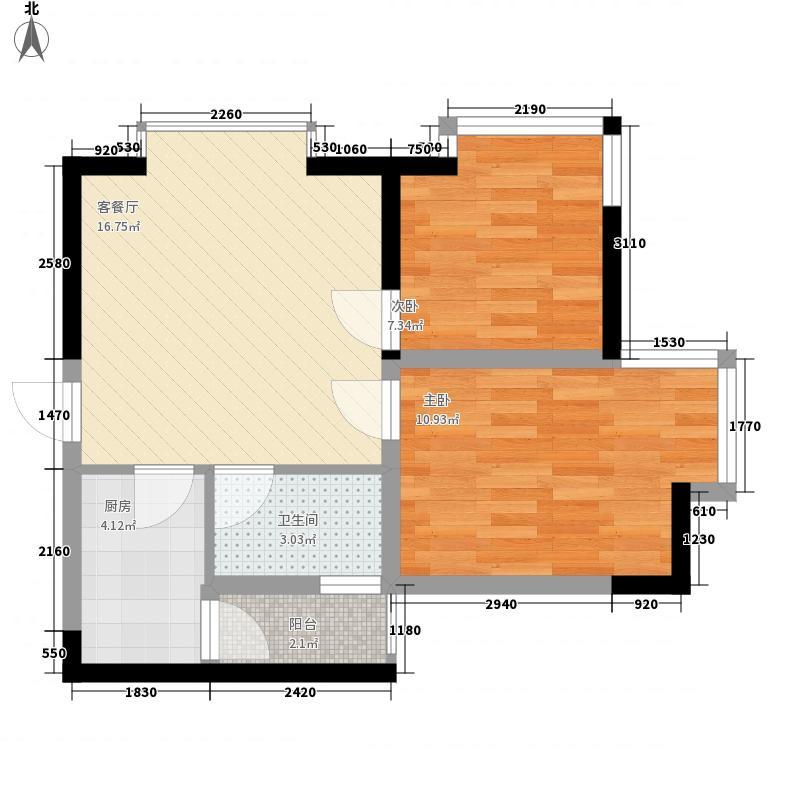 梦泽园美美公馆66.20㎡1、2栋32层B7户型