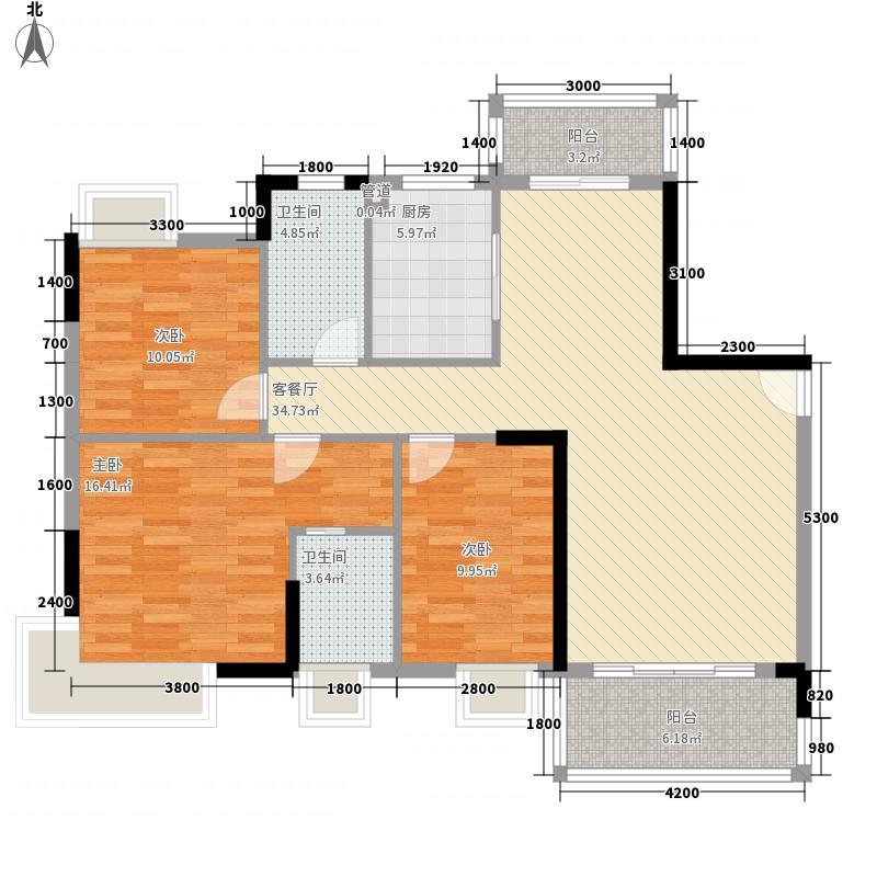 金色华庭二期 3室 户型图