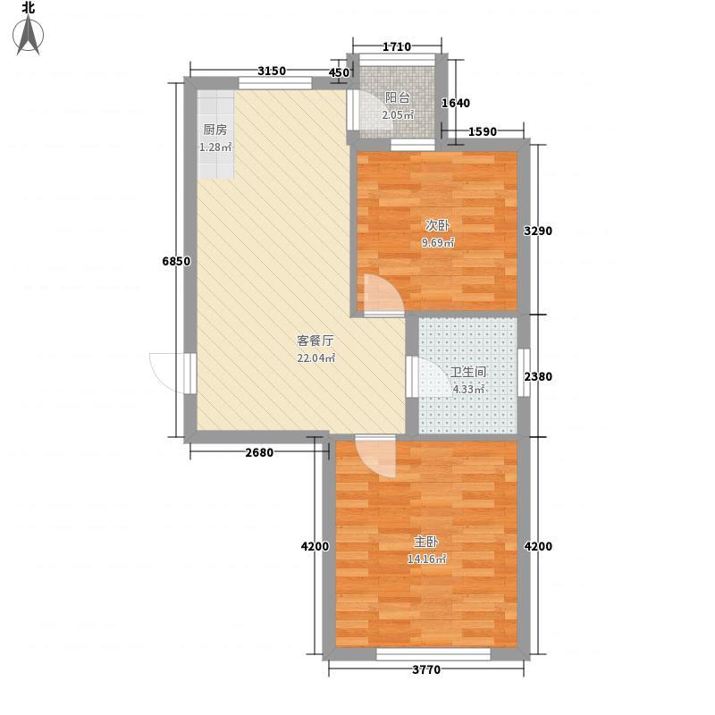 阳光生态城66.21㎡阳光生态城户型图172室1厅1卫1厨户型2室1厅1卫1厨