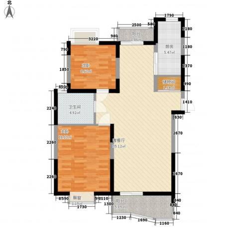 大华水韵华庭2室1厅1卫1厨111.00㎡户型图