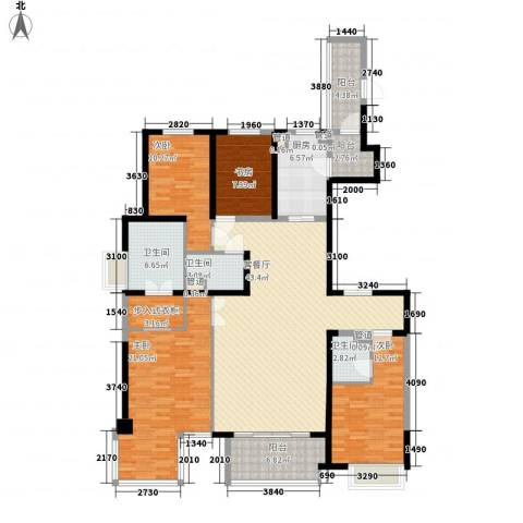 万科大明宫4室1厅3卫1厨190.00㎡户型图