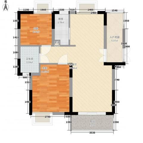 金域兰庭2室1厅1卫1厨89.00㎡户型图